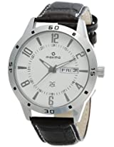 Maxima Attivo Analog White Dial Men's Watch - 24121LMGI