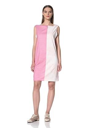 JIL SANDER NAVY Women's Stripe Sleeveless Dress (Pink)
