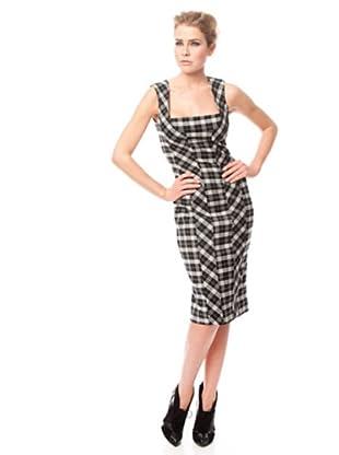 Dolce & Gabbana Vestido Cuadros (Negro / Blanco)
