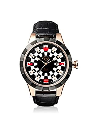 GV2 by Gevril Men's 9502 Scacchi Black Leather Watch