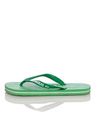 Brasileras Chanclas Brasilera Básica (Verde Claro)