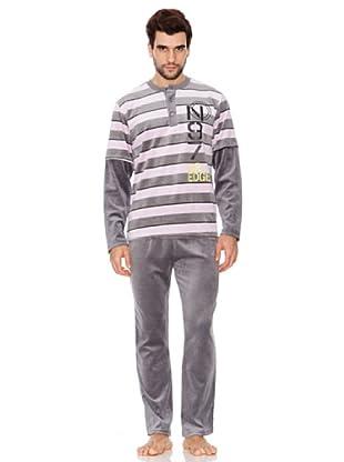 Blue Dreams Pijama Caballero Tundosado (gris)