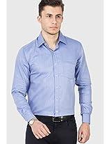Blue Slim Fit Formal Shirt Copperline