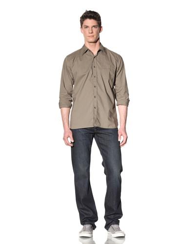 Earnest Sewn Men's Long Sleeve Button-Up Shirt (Java Bean)