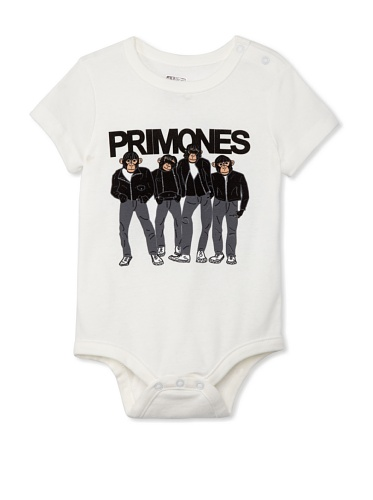 Lil Jokester Baby Primones Short Sleeve Bodysuit (White)