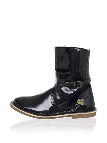 Kickers Kid's Feerique Boot (Toddler/Little Kid) (Black Varnish Patent)