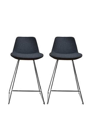 Aeon Furniture Set of 2 Alyssa Counter Stools, Grey
