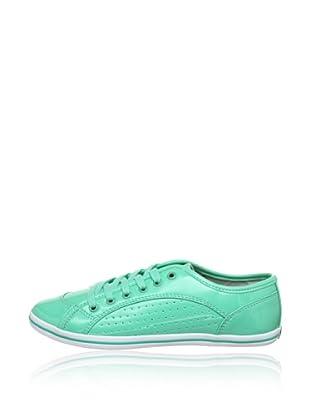 Buffalo 507-V9987 PATENT PU 144114 - Zapatillas de deporte  mujer (Verde)