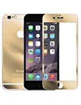 """Kapa Electroplated Mirror Front + Back Tempered Glass Screen Protector for iPhone 6 4.7"""" - Gold"""