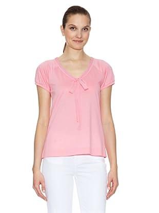 Tommy Hilfiger Camiseta Shirley Henley (Rosa)