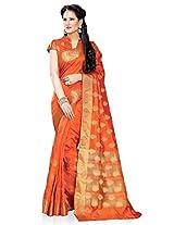 Meghdoot Artificial Silk Saree (ETHNIC_MT1351_ORANGE Woven Orange Colour Sari)