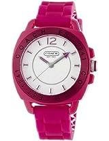 Coach New Coach Signature Boyfriend Silicon Rubber Pink Watch #14501354 Msrp $158 - W914 Fus Wmn