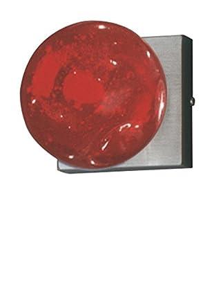 SEGNO Lámpara De Pared Blazar Applique S+L Ns/Vetr.Murano1X40W G9 Rojo