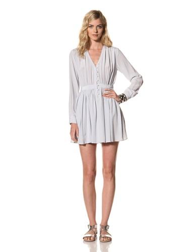 Thakoon Addition Women's Long Sleeve Gathered Waist Dress (Cloud)