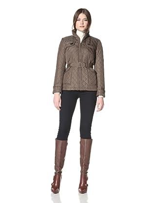 Vince Camuto Women's Belted Quilt Jacket (Olive)