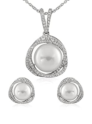Bella Pearls Set Collier und Ohrringe Sterling-Silber 925
