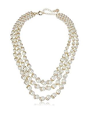 Fragments Triple-Strand Pearl & Pavé Statement Necklace