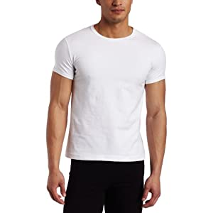 Capezio Men's Crew Neck T-shirt, White, Small