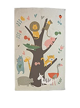LITTLE NICE THINGS Alfombra Animal Tree 90 x 140 cm