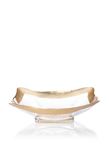 Badash Crystal Square Leaf Bowl (Gold)
