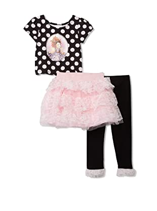 Fancy Nancy Girl's 3-Piece Winged Dancer Set (Pink/Black)