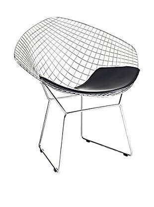 Fine Mod Wire Diamond Chair, Black