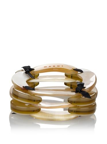 MARNI Women's Triple-Layered Bracelet (Buttercream)