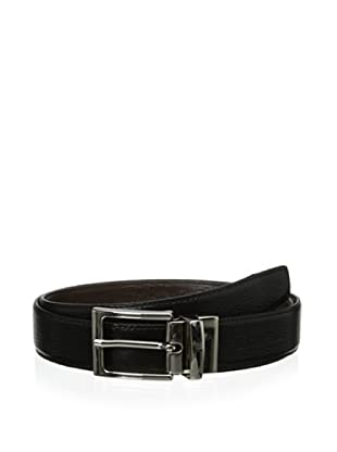 Leone Braconi Men's Minipaglia Reversible Belt (Black/brown)