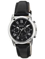 Fossil Grant Chronograph Black Dial Men's Watch - FS4840I