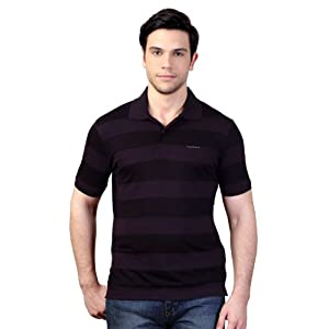 Polo Neck Striped Casual T-Shirt