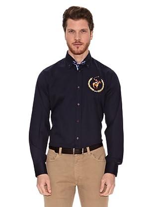 Polo Club Camisa Manga Larga Semientallada Lawrence (Azul Marino)