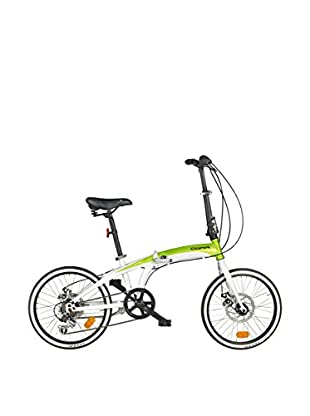 Fausto Coppi Bicicleta Plegable Car Bike Disco Blanco / Verde