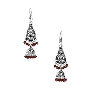 Voylla Jhumki Earrings With Pear Shaped Motif [Jewellery]
