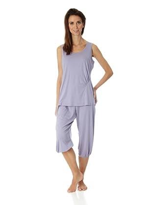 HANRO Damen Unterhemd, 7368 (Violett (0471 dusk))