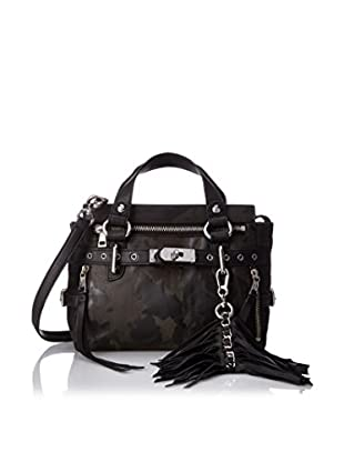 ASH Women's Camo Astor Mini Satchel, Black Camo/Black