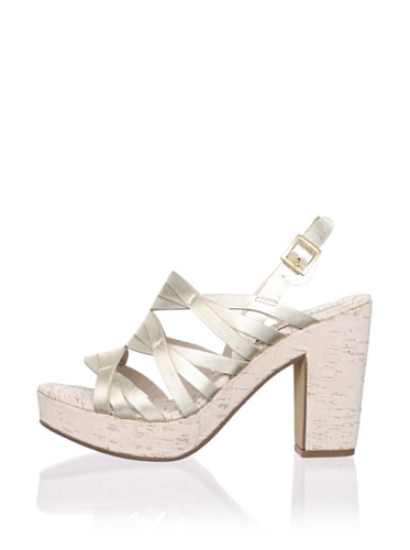 Rosegold Women's Tacey Slingback Sandal (White Gold Metallic)
