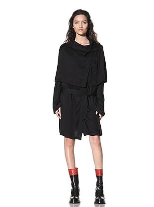 Ann Demeulemeester Women's Cape Overlay Dress (Black)