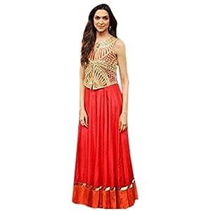 Nairiti Stunning Deepika Red Bollywood Replica Anarkali Suit
