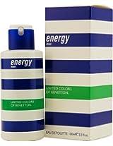 Benetton Energy By Benetton Edt Spray 3.3 Oz