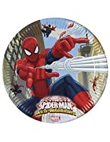 Ultimate Spiderman Web Warriors-Paper Plates , Kids Birthday Party Supplies , Theme Birthday Party , Paper Plates