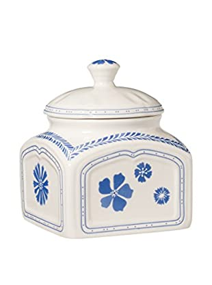 Villeroy & Boch Blueflowers Charm Spice Box with Lid, Blue/White