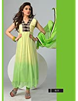 Latest ParrotGreen Traditional And Fashionable Anarkali Suits