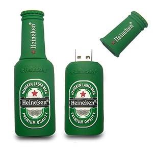 16GB Pendrive Bottle Shape Heineken Fancy Designer 16GB Pen DriveMCS - 69