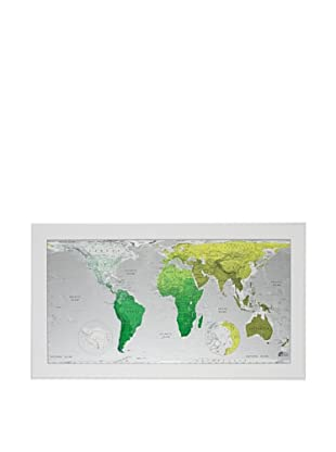 The Future Mapping Company Future Map Version 1 World Map (Emerald/Lime)