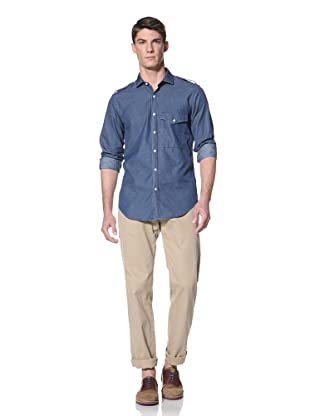 Simon Spurr Men's Military Shirt (Indigo)