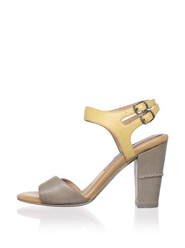 Modern Vintage Women's Roxy Ankle-Strap Sandal (Light Grey/Corn)