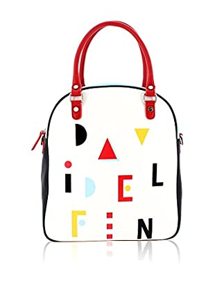davidelfin Bolso asa al hombro Name Game Bag Blanco