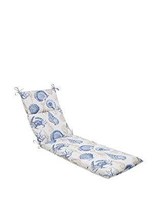 Pillow Perfect Outdoor Sea Life Marine Chaise Lounge Cushion, Blue/Tan