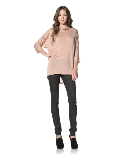 Nation LTD by Jen Menchaca Women's Coral Gables 3/4 Sleeve T-Shirt (Maple Sugar)