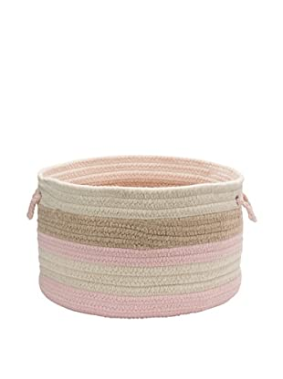 Colonial Mills Elliott Stripe Basket, (Pink/Oatmeal/Natural)